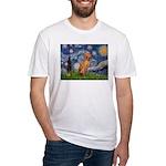 Starry Night / Vizsla Fitted T-Shirt