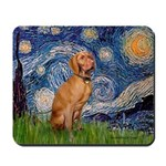 Starry Night / Vizsla Mousepad
