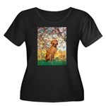 Spring / Vizsla Women's Plus Size Scoop Neck Dark
