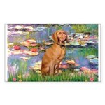 Lilies / Vizsla Sticker (Rectangle)