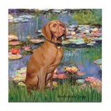 Lilies / Vizsla Tile Coaster