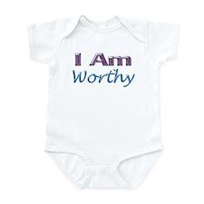 I Am Worthy Infant Bodysuit