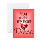 You Make My Heart Dance Greeting Cards (Pk of 10)