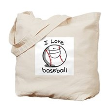 i Love Baseball Tote Bag