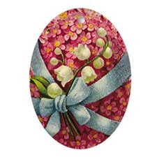 Pink Flowers Lily of the Valley Easter Ornament