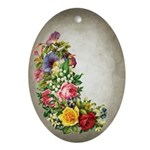 Vctorian Flowers Easter Oval Ornament