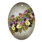 Morning Glory Garland Easter Oval Ornament
