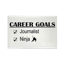 Journalist Career Goals Rectangle Magnet