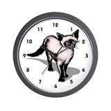 Veterinary Wall Clock with Cat