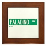Paladino Avenue in NY Framed Tile