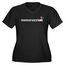 Mamarazzi Women's Plus Size V-Neck Dark T-Shirt