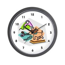 Pet Groomer Wall Clock