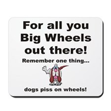 Big Wheels Mousepad