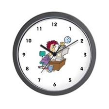 Self-Employed Wall Clock