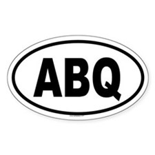 ABQ Oval Decal
