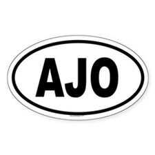 AJO Oval Decal