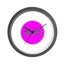 Collaborate Pink Wall Clock
