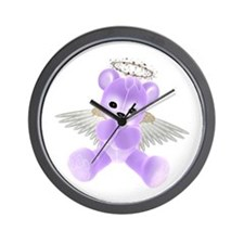 PURPLE ANGEL BEAR 2 Wall Clock