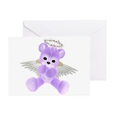 PURPLE ANGEL BEAR 2 Greeting Cards (Pk of 10)