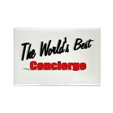 """The World's Best Concierge"" Rectangle Magnet (10"