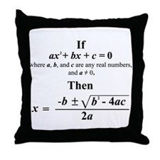 Quadratic Formula Throw Pillow