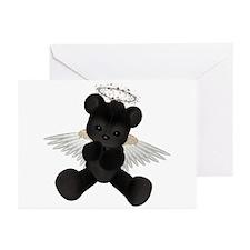 BLACK ANGEL BEAR Greeting Cards (Pk of 10)
