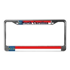 North Carolina State Flag License Plate Frame