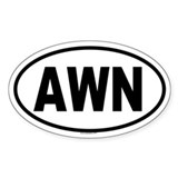 AWN Oval Decal