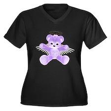 PURPLE ANGEL BEAR Women's Plus Size V-Neck Dark T