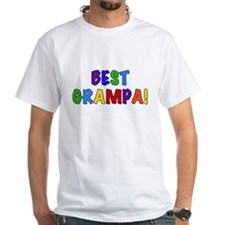Colorful Text Best Grampa Shirt
