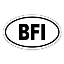 BFI Oval Decal