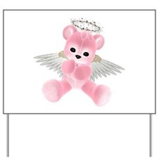 PINK ANGEL BEAR 2 Yard Sign