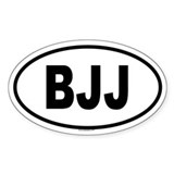 BJJ Oval Decal
