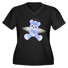 BLUE ANGEL BEAR 2 Women's Plus Size V-Neck Dark T-