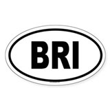 BRI Oval Decal