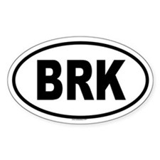 BRK Oval Decal
