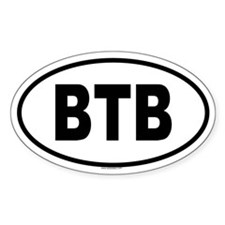 BTB Oval Decal