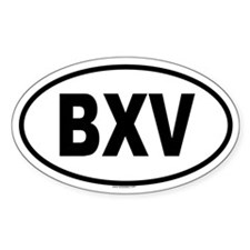 BXV Oval Decal