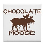 Chocolate Moose Tile Coaster