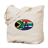 South Africa Colors Oval Tote Bag