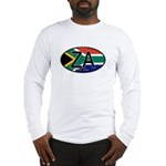 South Africa Colors Oval Long Sleeve T-Shirt