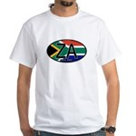 South Africa Colors Oval White T-Shirt