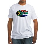 South Africa Colors Oval Fitted T-Shirt