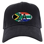 South Africa Colors Oval Black Cap