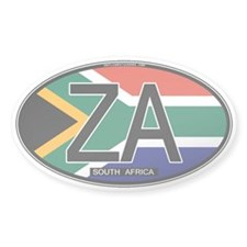 South Africa Colors Oval Oval Decal