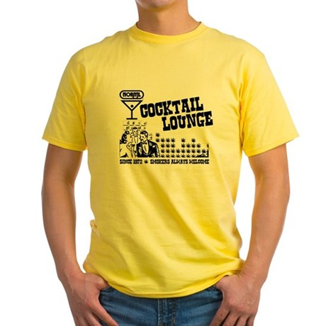 NORML Cocktail Lounge Yellow T-Shirt