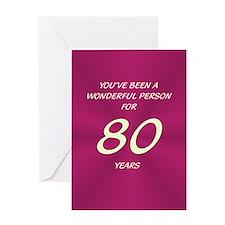 Wonderful Person - Birthday Card - 80