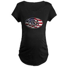USA Colors Oval 2 T-Shirt