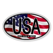 USA Colors Oval 2 Oval Decal