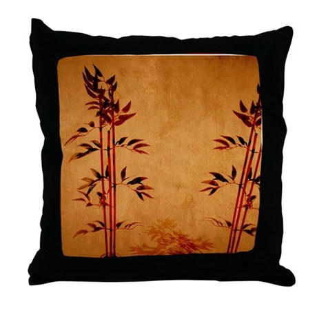 Bamboo Paper Throw Pillow